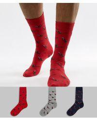 Barbour - Pheasant 3 Pack Sock Gift Box In Multi - Lyst