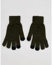 ASOS - Gants pour cran tactile en laine tactile - Lyst