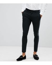 Only & Sons | Skinny Suit Trouser In Mini Houndstooth | Lyst