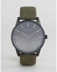 Unknown - Urban Ombre Leather Watch In Khaki - Lyst