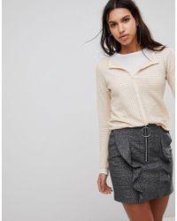 Mango - Textured Jersey Cardigan - Lyst