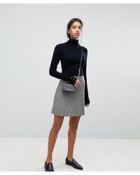 SELECTED - Femme Check Mini Skirt - Lyst