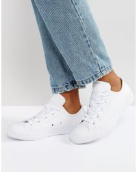 Converse - Chuck Taylor All Star Ox Leather Trainers - Lyst