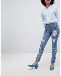 Urban Bliss - Stripe Straight Jean - Lyst