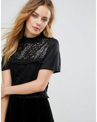 Zibi London - Cropped Lace Top - Lyst