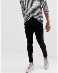 ASOS - Spray On Jeans In Power Stretch Denim In Black - Lyst
