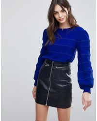 Fashion Union - Balloon Sleeve Knitted Sweater - Lyst