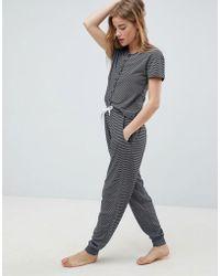 Chelsea Peers - Yarn Dye Stripe Long Pj Set - Lyst