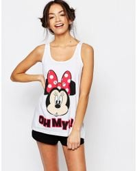 Missimo - Disney Minnie Mouse Short Pyjama Set - Lyst