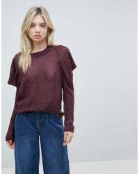 Minimum - Cold Shoulder Sweater - Lyst