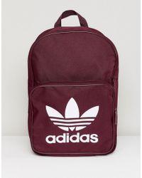 adidas Originals - Classic Backpack In Burgundy - Lyst