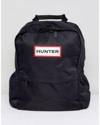 HUNTER - Original Small Black Nylon Backpack - Lyst