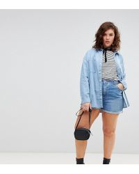 ASOS - Denim Mom Short In Vintage Blue - Lyst