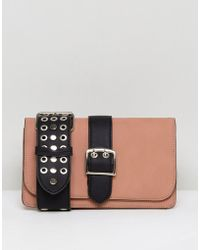 Lavand - Across Body Bag With Studded Cut Out Strap - Lyst
