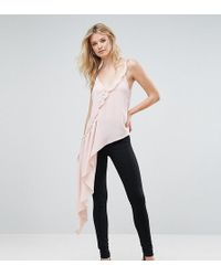 ASOS | Asymmetric Ruffle Cami With Button Detail | Lyst