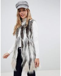 Urbancode - Vest In Stag Faux Fur - Lyst