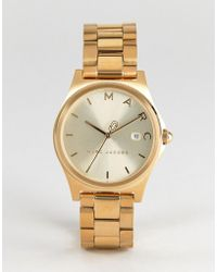 Marc Jacobs - Mj3584 Henry Bracelet Watch In Gold 36mm - Lyst