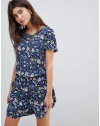 Esprit - Floral Print Playsuit - Lyst