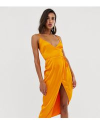 b05989f2eca9ea Needle & Thread Cami Strap Midi Dress With Open Back in Blue - Lyst