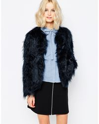 First & I - First And I Key Faux Fur Jacket - Lyst