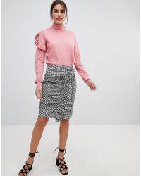 NA-KD - Side Frill Pencil Skirt - Lyst