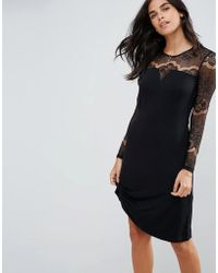 Y.A.S | Ciccu Long Lace Sleeved Shift Dress | Lyst