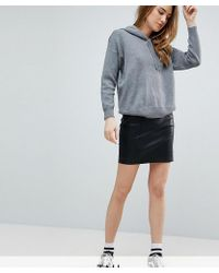 Noisy May Tall - Faux Leather Skirt - Lyst