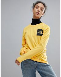 The North Face - Fine Long Sleeve Top In Yellow - Lyst
