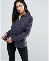 Dex - Denim Shirt With Front Pockets - Lyst