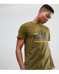 Penfield - Treeline Logo Print T-shirt In Green Exclusive At Asos - Lyst