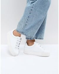 SELECTED - Leather Platform Sneaker - Lyst
