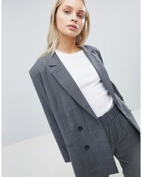 Weekday - Oversized Double Breasted Check Suit Blazer - Lyst
