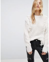 New Look - Fringe Whipstitch Jumper - Lyst