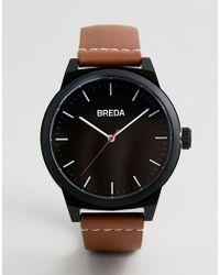 Breda - 8184a Men's Analog Display Quartz Brown Watch - Lyst