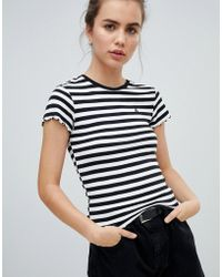 Volcom - Short Sleeve T Shirt In Black Stripe - Lyst