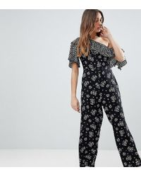 Reclaimed (vintage) - Inspired Floral One Shoulder Jumpsuit - Lyst