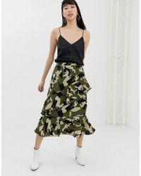 B.Young - Camo Wrap Skirt - Lyst