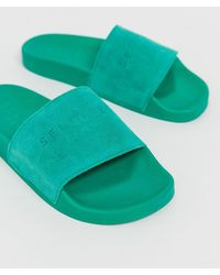 SELECTED - Femme Suede Beach Slider Shoe - Lyst