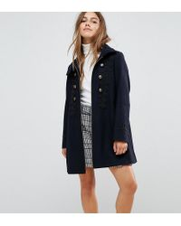 ASOS - Military Coat With Frogging Detail - Lyst