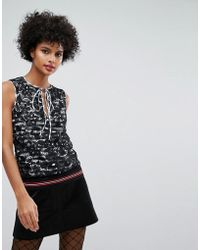 Sonia by Sonia Rykiel - Lace With Stripe Lining Stop - Lyst