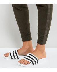 adidas Originals - Originals Adilette Slider Sandals In White - Lyst
