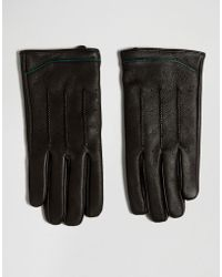 Ted Baker - Gloves In Leather - Lyst