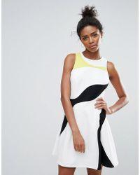 Adelyn Rae - Multi Colour Panel Skater Dress - Lyst