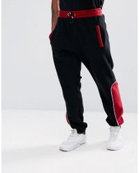 Jaded London - Track Joggers In Black Fleece - Lyst
