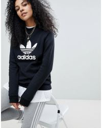 adidas Originals - Originals Adicolor Trefoil Oversized Sweatshirt In Black - Lyst