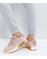 Nike - Air Max 90 Trainers In Particle Pink - Lyst