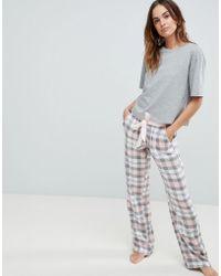 ASOS - Design Mix & Match Check Pyjama Pant - Lyst