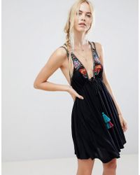 dcd6a180eb11 Free People - Lovers Cove Embroidered Tassle Dress - Lyst