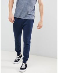 Hollister - Core Icon Logo Cuffed jogger In Navy - Lyst