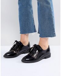 ASOS - Monday Leather Flat Shoes - Lyst